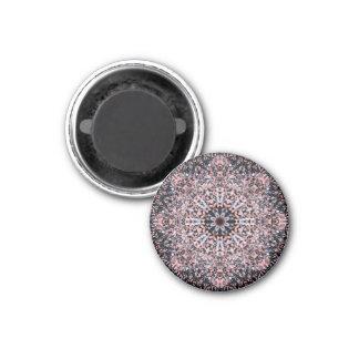 Pebbles Flower Mandala 3 Cm Round Magnet
