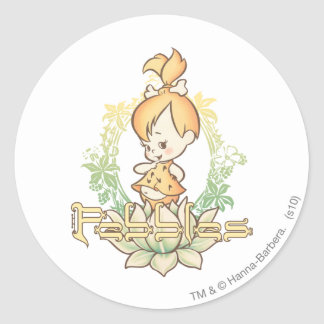 PEBBLES™ in Lotus Flower Classic Round Sticker