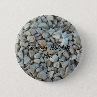Pebbles on Beach Stone Photography 6 Cm Round Badge