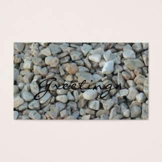 Pebbles on Beach Stone Photography Business Card