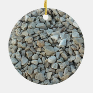 Pebbles on Beach Stone Photography Ceramic Ornament
