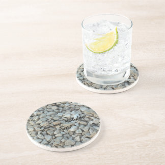 Pebbles on Beach Stone Photography Coaster