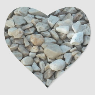 Pebbles on Beach Stone Photography Heart Sticker