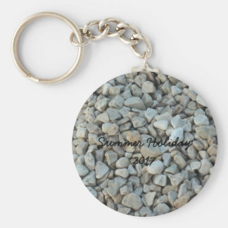 Pebbles on Beach Stone Photography Key Ring