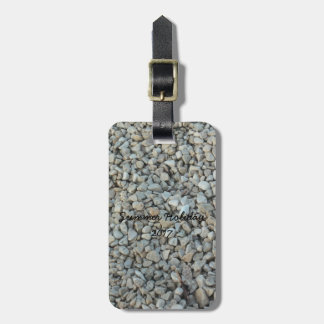 Pebbles on Beach Stone Photography Luggage Tag