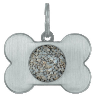 Pebbles on Beach Stone Photography Pet ID Tag