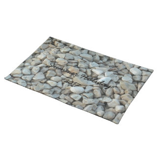 Pebbles on Beach Stone Photography Placemats