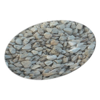 Pebbles on Beach Stone Photography Plate