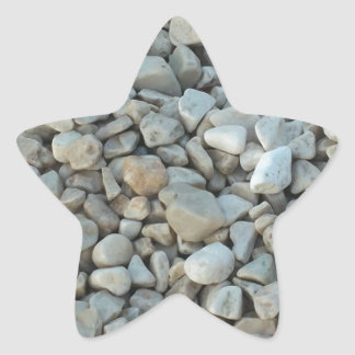 Pebbles on Beach Stone Photography Star Sticker