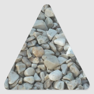 Pebbles on Beach Stone Photography Triangle Sticker