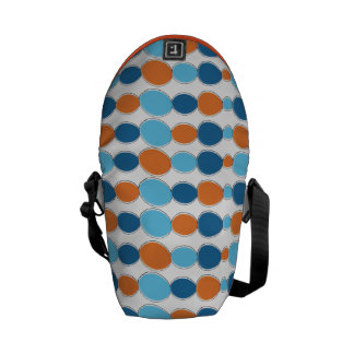 Pebbles Orange and Blue Messenger Bags
