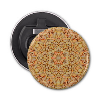 Pebbles Pattern Magnetic Round Bottle Opener