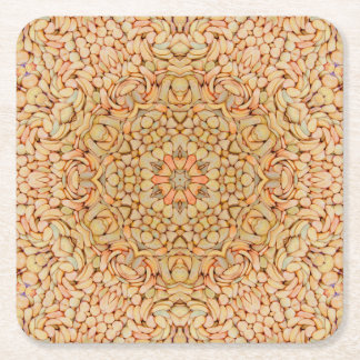 Pebbles Pattern  Pulp board Coasters, 2 shapes Square Paper Coaster