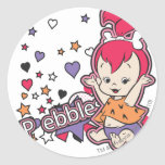 PEBBLES™ Purple Heart Round Sticker