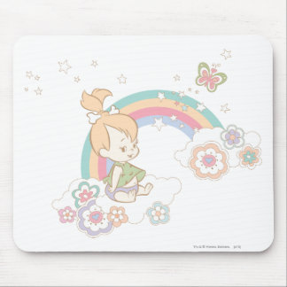 PEBBLES™ Rainbow and Flower Clouds Mouse Pad