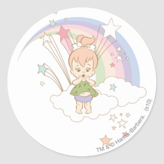 PEBBLES™ Rainbow Stars Round Sticker