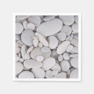 Pebbles, Rocks, Background Disposable Napkins