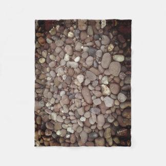 Pebbles Stones Photo Fleece Blanket, Small