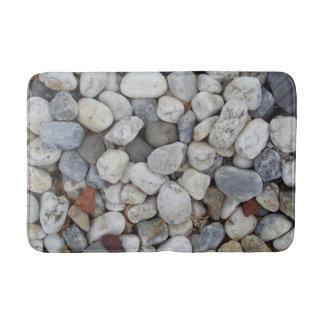 Pebbles, stones, rocks bath mat