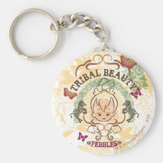 PEBBLES™ Tribal Beauty Basic Round Button Key Ring