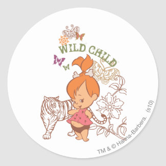 PEBBLES™ Wild Child Round Sticker