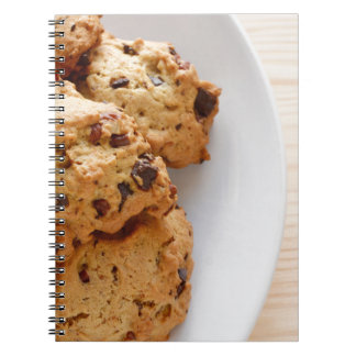 Pecan chocolate chip cookies note books