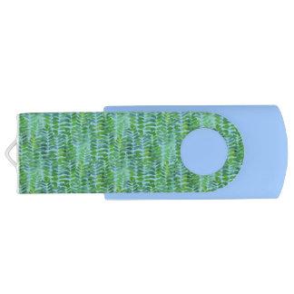 Pecan Leaves Customizable USB Flash Drive