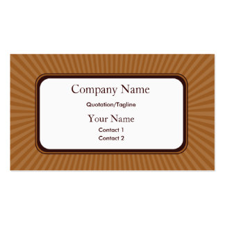 Pecan Spring Rays Business Cards