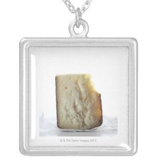 Peccorino Cheese Slice Square Pendant Necklace
