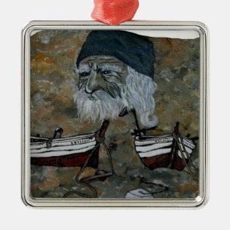PECHEUR.png OLD MAN Metal Ornament
