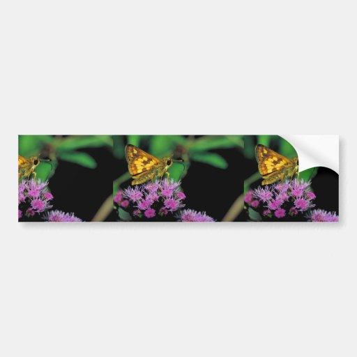 Peck's skipper on Mistflower Bumper Sticker
