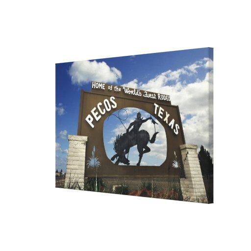 Pecos, Texas sign Canvas Print