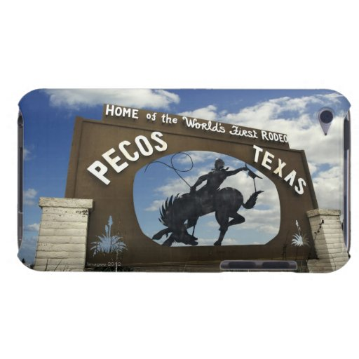Pecos, Texas sign iPod Touch Case-Mate Case