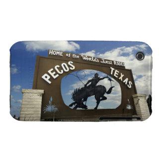 Pecos, Texas sign Case-Mate iPhone 3 Case