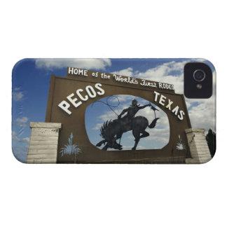 Pecos, Texas sign iPhone 4 Cases