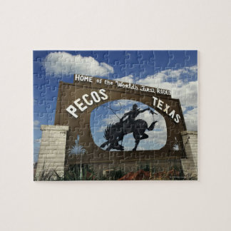 Pecos, Texas sign Jigsaw Puzzles