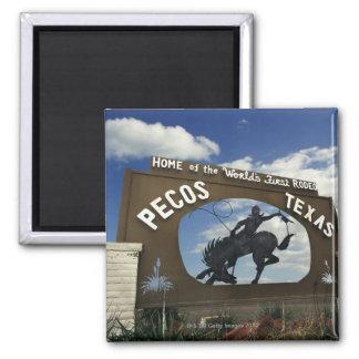 Pecos, Texas sign Refrigerator Magnet