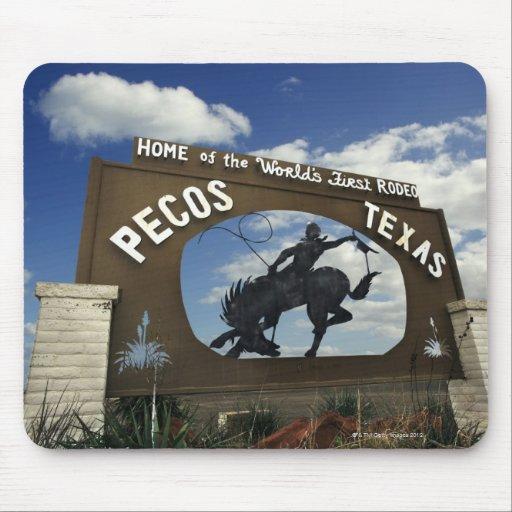 Pecos, Texas sign Mousepad