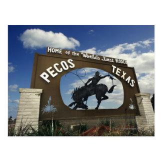 Pecos, Texas sign Postcard