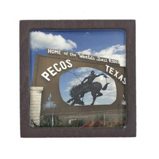 Pecos, Texas sign Premium Trinket Box