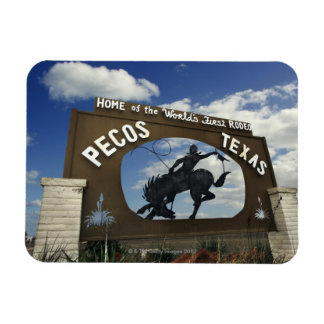 Pecos, Texas sign Rectangular Photo Magnet