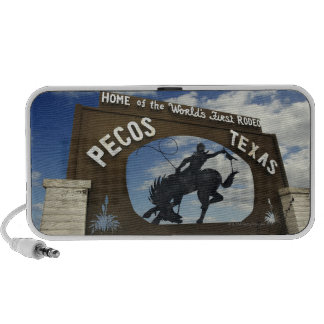 Pecos, Texas sign Laptop Speakers