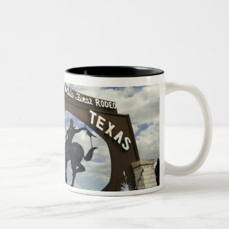 Pecos, Texas sign Two-Tone Coffee Mug