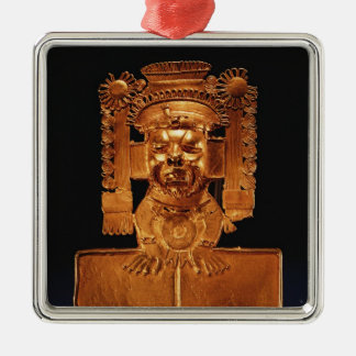 Pectoral of the god Xipe Totec Silver-Colored Square Decoration
