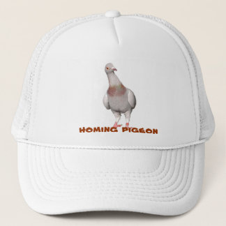 Peculiar cap with carrier pigeons