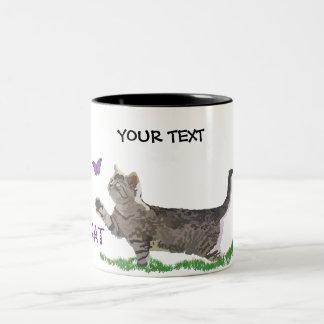 peculiar kitten Two-Tone coffee mug