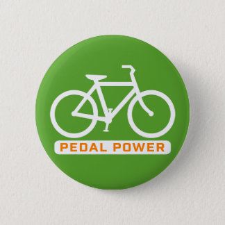 Pedal Power. 6 Cm Round Badge