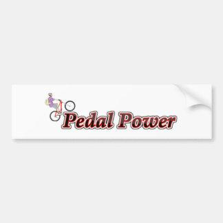 Pedal Power Bumper Sticker