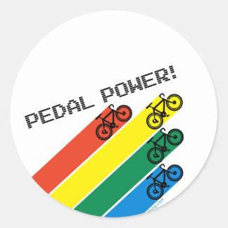 Pedal Power! Round Sticker