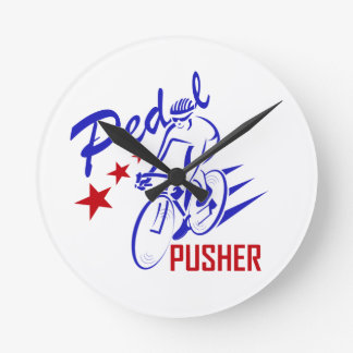 Pedal Pusher Round Clock